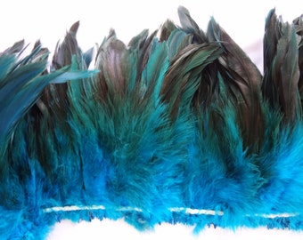 Rooster Schlappen Half Bronze Turquoise Feathers wholesale craft design costume supply hair extensions