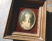 Vintage Picture, Cameo Creation, French, Wall Decor, M me. Lambert de Morigney, Nicholas Largelliere