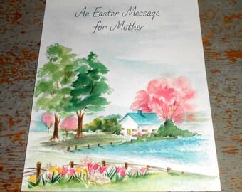 Vintage Card, Easter, Hallmark, Mother, Unused