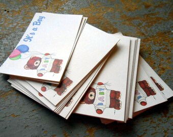Vintage Florist Cards, It's a Boy, Teddy Bear, Birth Announcement, Florist Supplies, Insert, Gift Tags, Unused
