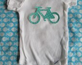 Bicycle Applique - iron on bicycle applique - make a bicycle shirt or other craft