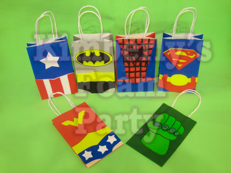 6 Super Hero Party Bags