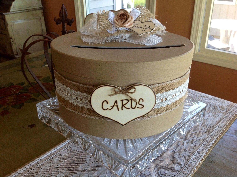 Rustic Wedding Card Box Wedding Card Holder Wedding Card