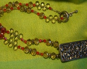 Fire and Ice Necklace (Item N40) PRICE REDUCED!