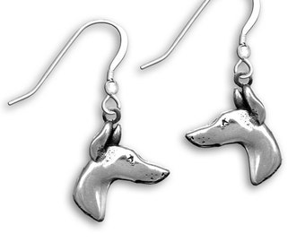 Sterling Silver Doberman Earrings