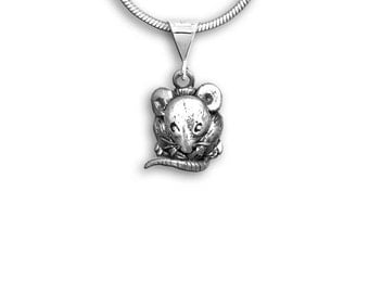 Sterling Silver Mouse Pendant
