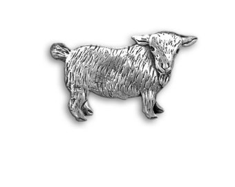 Sterling Silver Goat Pin