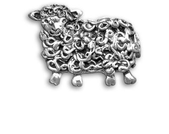 Sterling Silver Sheep Pin