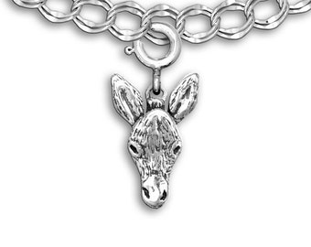 Sterling Silver Donkey Charm