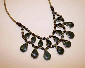 SALE Hasina Necklace Vintage Afghani Jade Necklace
