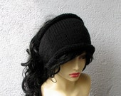 Black knitted dreadlock headband / headwrap  dreadlock tube hat dread band Dread Wrap Available in many colours.