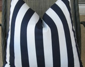 2 Blue and White Twill Stripe Pillow Slipcovers. 20 x 20. Free Shipping