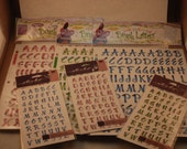 Stickers Scrapbooking Scrapping Letters Numbers Crafts Stickabilities