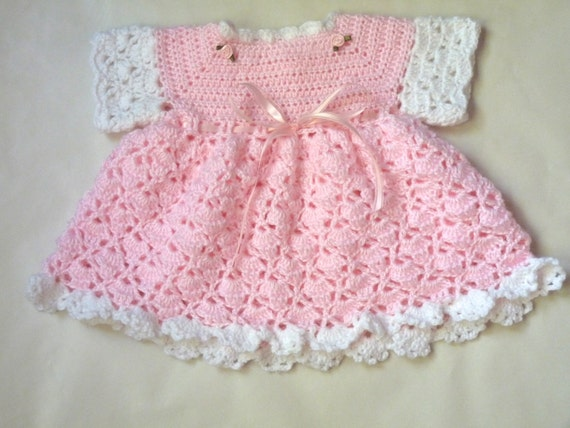 Baby Girl Dresses Handmade Baby Girl Pink And White Dress