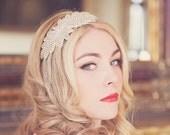 Melissa - Art Deco Swarovski Crystal Leaf Headband Headpiece