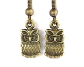 Owl Earrings Unique Gift For Her Valentines Birthday Mothers Day Under 10 Item C28