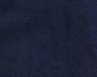 Navy Blue Solid Classic Fleece Fabric, 60 Inches Wide and Sold By The Yard