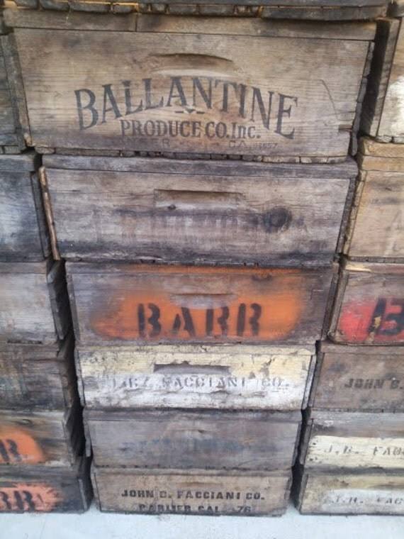 Vintage Fruit Boxes Large Stock Available Lugs Crates