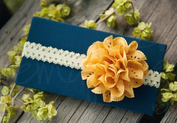 Ema Jane - Eyelet Laced Flowers on Lace Headbands