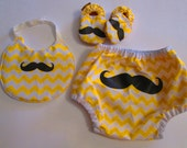 Mustache baby set baby boy gift set chevron baby set chevron bib chevron shoes chevron diaper cover mustache shoes mustache bib