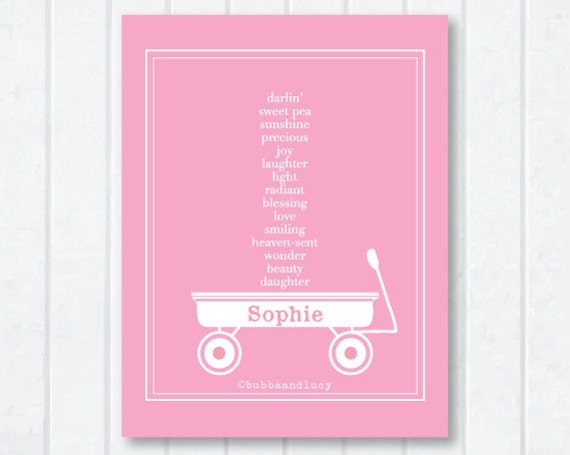 For Her. Carrying Your Heart Customizable Childrens Print with Endearments