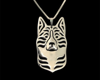 Karelian Bear Dog jewelry - Sterling silver pendant and necklace