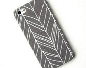 Fabric Grey Chevron iPhone 4/4s Case