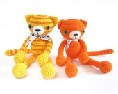 CROCHET PATTERN - Cat - Stuffed animal pattern - Amigurumi - Tutorial with photos - Difficulty: easy - PM-12-006