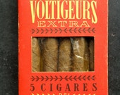 Sale - Vintage French cigar box with original cigars, antique cigars