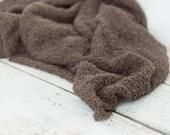 Luxurious Newborn Stretch Wrap Swaddle Photography Prop Knit Baby OLIVE khaki - Ready To Ship