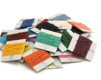75m of Crawford's waxed 4-ply Linen Thread, your choice of up to 15 Colors