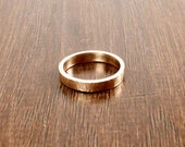 Made to Order Handmade Hammered Bronze Ring 4mm