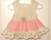 Pink Crochet Twirly Dress