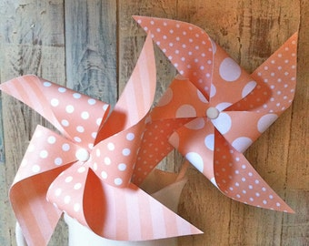 Pinwheels - Peaches and Cream - Set of 8 Pinwheels
