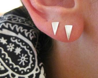 Pennant Triangle Stud / Post Earrings
