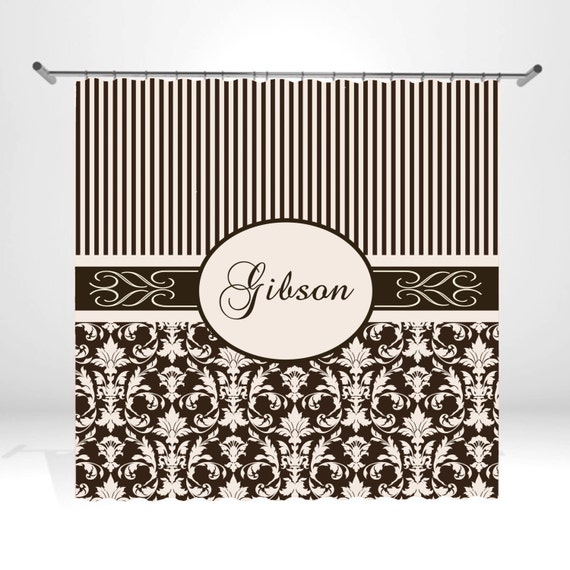 Personalized Shower Curtain by ItsPerfectlyPosh on Etsy
