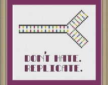 Don't hate, replicate: nerdy DNA cross-stitch pattern