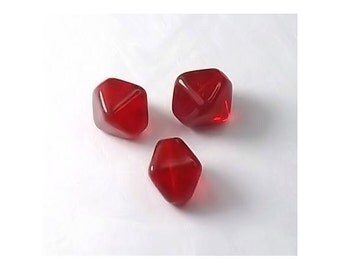 Cherry Red Square Bicone 8mm (30)