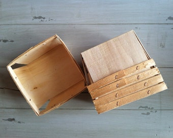 Quart Wood Berry Baskets, Berry Baskets, 12 Favor Baskets, Wedding, Gift Baskets