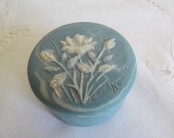 Vintage Sky Blue Trinket Box by Design Gifts International