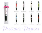 Paparte Personalized Pens - zebra print pens, damask print pens, polka dots pens or argyle Pens Teacher Gifts