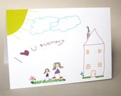 """Mother's Day Card, Funny Card, Card for Mom - """"Fridge Art"""""""