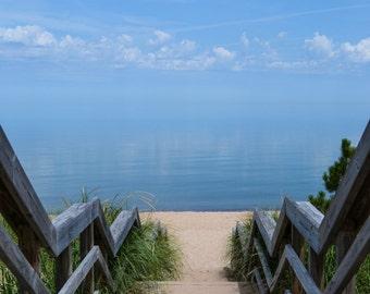 Michigan Photography - Steps to Lake Superior