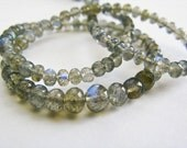 Labradorite, Beads, Rondelles, AAA, Full Strand, 3-5mm, 16 inches