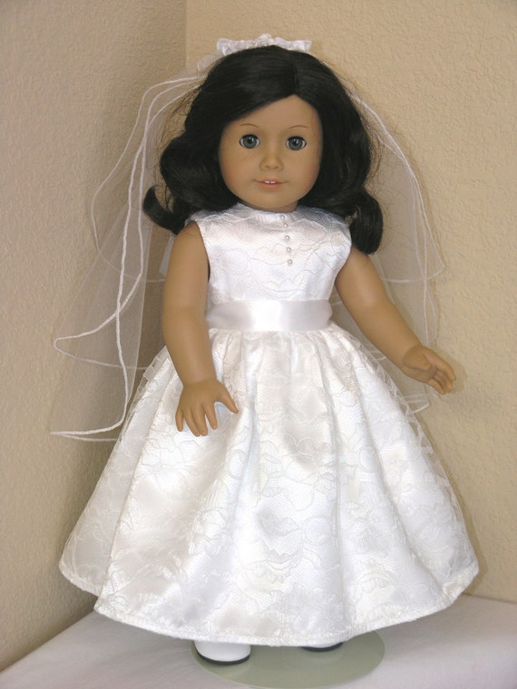first communion 18 inch american girl doll dress by lididesigns. Black Bedroom Furniture Sets. Home Design Ideas