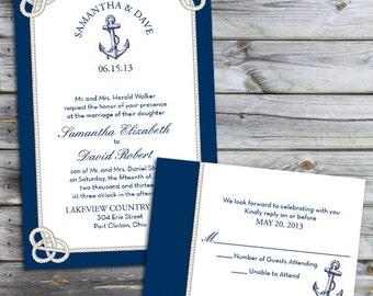 Custom Nautical Knot Wedding Invitations