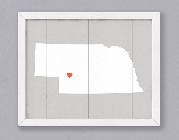 "Rustic sign - Nebraska wall art - Rustic Home decor 16""x20"" Handmade Personalized Sign - Wedding gift Bridal shower gift Housewarming gift"