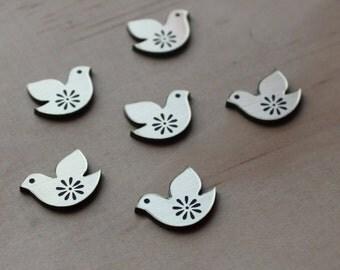 Laser Cut Supplies-8 Pieces Sweet Little Birdies, laser cut Acrylic, laser cut shapes australia