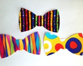 Set of 3 Iron-On Bow Ties - Bold and Bright