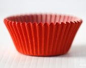 50 Solid RED Cupcake Liners Greaseproof Standard Baking Cups